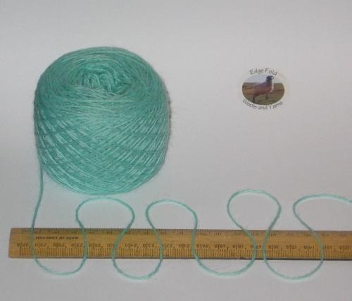 50g ball Mint Green 4 ply knitting yarn 51% wool 49% acrylic yarn SOFT 2/10nm
