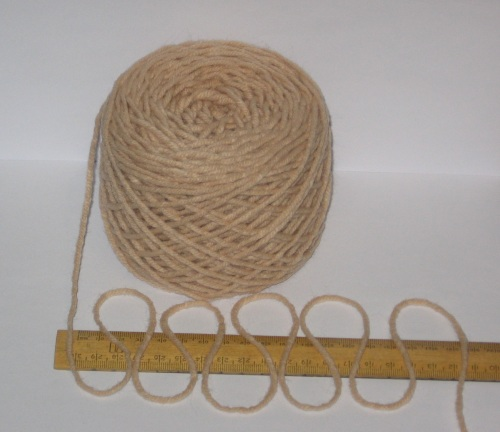 100g ball Beige Brown Aran knitting wool yarn 100% acrylic 4/5nm