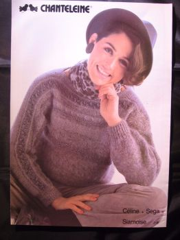 Knitting Pattern Vintage 1980s Chanteleine 31B for Ladies Jumper Womens Sweater
