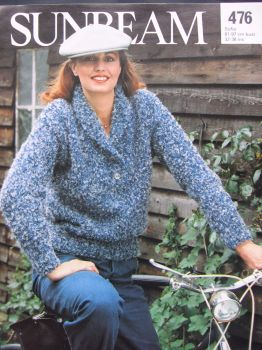 Vintage 1980s Knitting Pattern Sunbeam 476 for Ladies Sweater Womens jumper