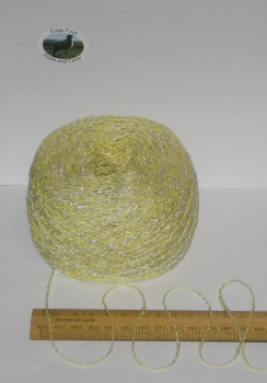 100g ball Yellow & Cream marl wavy boucle double knitting dk wool cotton acrylic