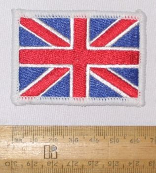 Union Jack Flag Embroidered Patch Sew on Badge Applique British made 6.5cm x 4.5cm