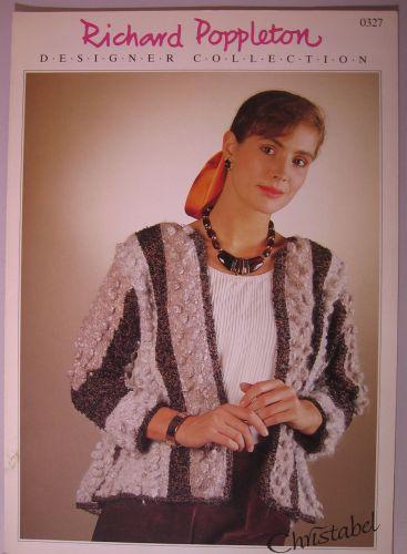 Paper Knitting Pattern ~ Poppleton 0327 Lady's Medieval style Sweater Jacket