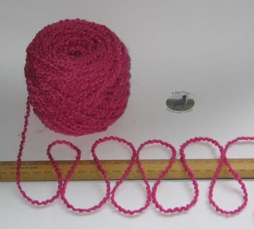 100g ball Gerbera Cerise Pink wavy Boucle 100% Pure Wool knitting yarn Chunky