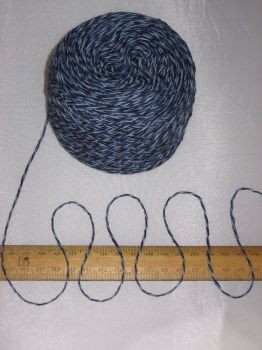 50g ball Blue with a hint of Green Marl knitting wool 3 ply Cotton yarn