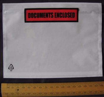 5 x A6 size Documents Enclosed Wallets Pouches 175 x 132 mm ~ Printed