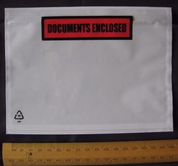 25 pack A6 size Documents Enclosed Wallets Pouches 175 x 132 mm ~ Printed