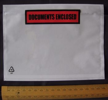 50 pack A6 size Documents Enclosed Wallets Pouches 175 x 132 mm ~ Printed