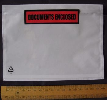 100 pack A6 size Documents Enclosed Wallets Pouches 175 x 132 mm ~ Printed