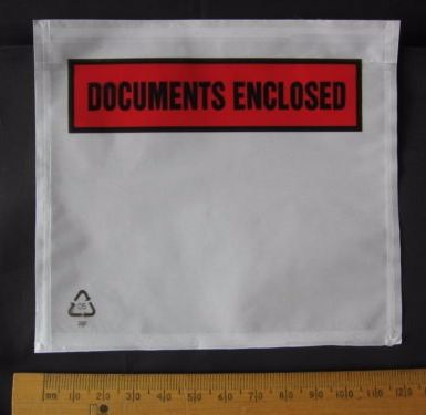 5 pack A7 size Documents Enclosed Wallets Pouches envelopes 123 x 110 mm Printed