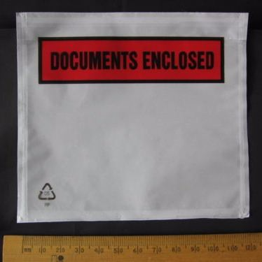 25 pack A7 size Documents Enclosed Wallets Pouches envelope 123 x 110 mm Printed