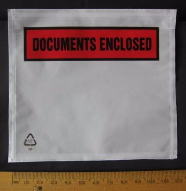 50 pack A7 size Documents Enclosed Wallets Pouches envelope 123 x 110 mm Printed