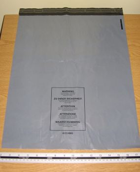 "5 x A15 Large Grey Mailing Bags Parcel Sacks approx 400mm x 500mm 16"" x 20"""