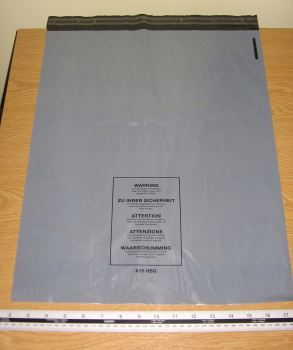 "25 x A15 Large Grey Mail Bags Strong Sacks approx 400mm x 500mm 16"" x 20"""
