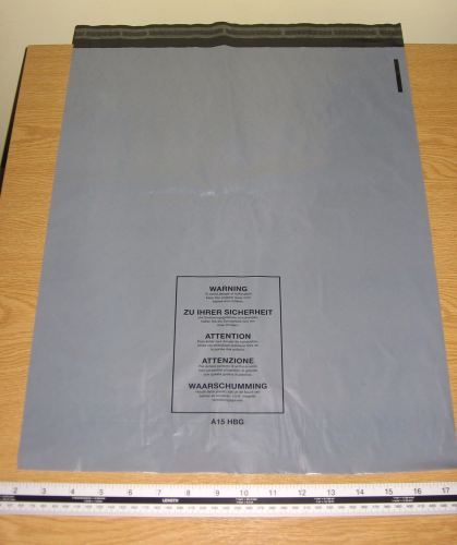 25 x A15 Large Grey Mail Bags Strong Sacks approx 400mm x 500mm 16