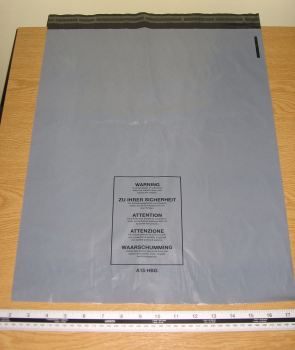 "100 x A15 Large Grey Mail Parcel Bags Strong approx 400mm x 500mm 16"" x 20"""
