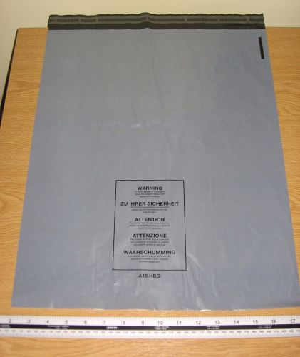 100 x A15 Large Grey Mail Parcel Bags Strong approx 400mm x 500mm 16