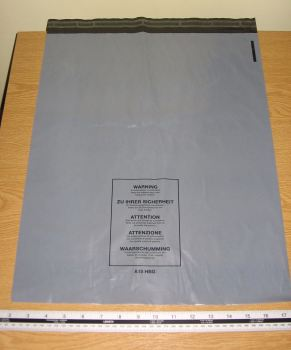 "Box 500 Large Grey Mail Bags Strong Parcel Sacks 16"" x 20"" A15 approx 400mm x 500mm"
