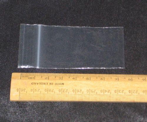 500 x Mini Grip Seal Resealable Plastic Bags Clear Plain 1.5