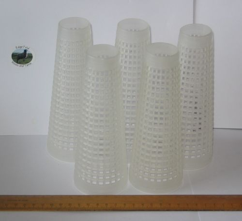 5 x White Empty Plastic Wool Cones knitting / Christmas craft Please read carefully
