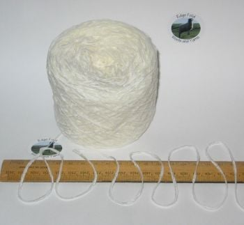 50g balls White 4 ply British Acrylic Chenille knitting wool yarn