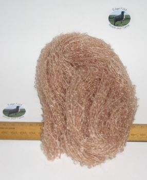 45m 15 x 3m Peach Beige Brown Pack 78% Mohair Small Loop wool Doll Hair Weaving