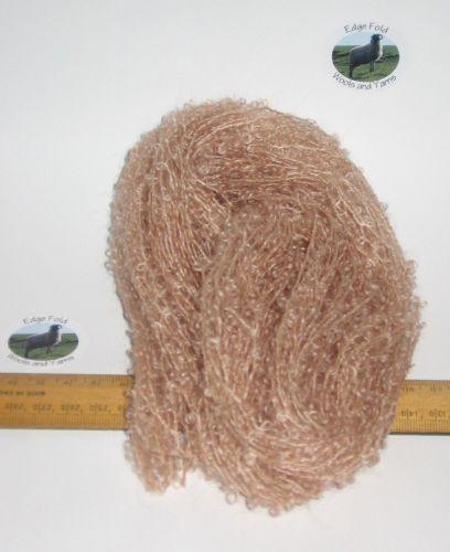 45m 15 x 3m Peach Beige Brown Pack 78% Mohair Small Loop wool Doll Hair Weaving