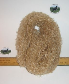 45m 15 x 3m Fawn Light Brown Pack 78% Mohair Small Loop wool Doll Hair Weaving