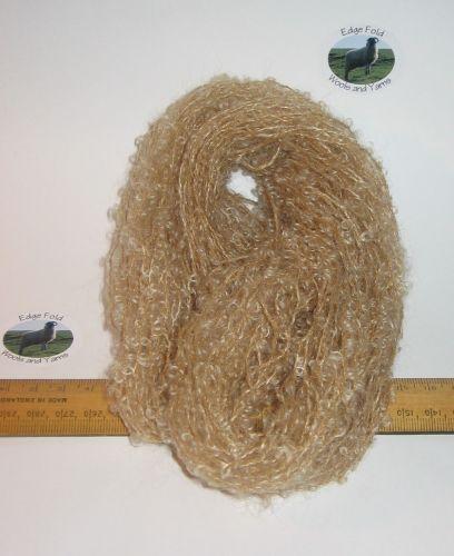 45m 15 x 3m Fawn Light Brown Pack 78% Mohair Small Loop wool Doll Hair Weaving