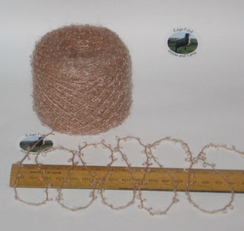 50g balls Peach Beige 78% Mohair Loop boucle knitting wool yarn Doll Hair 4 ply