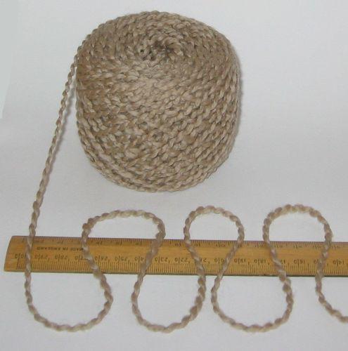 100g balls Light Brown wavy Boucle 100% Pure British Wool knitting yarn Chunky