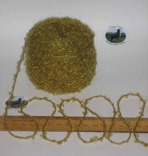 50g balls Zesty Green 78% Mohair Loop boucle double knitting wool weaving yarn dk
