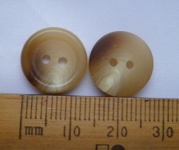10 pack Cream & Brown Marl Marble round plastic British Buttons 14mm 2 hole JBBM14 FREE P+P within UK