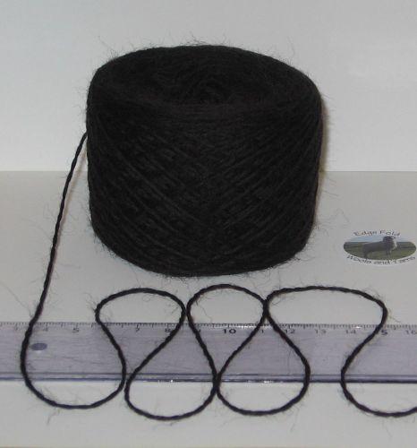 50g balls Black 100%  Pure British Sheep Wool knitting yarn 4 ply Great for Felting felt
