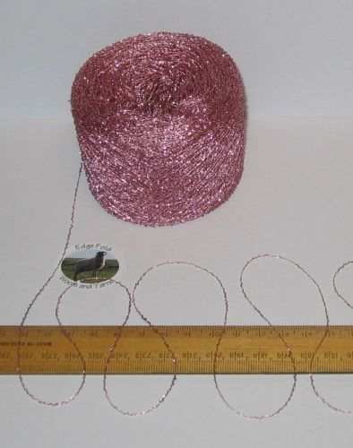 25g ball of Very thin Pink Sparkly Lurex Type yarn knitting wool Glitter Sparkle 1 ply Use alongside another yarn to add sparkle