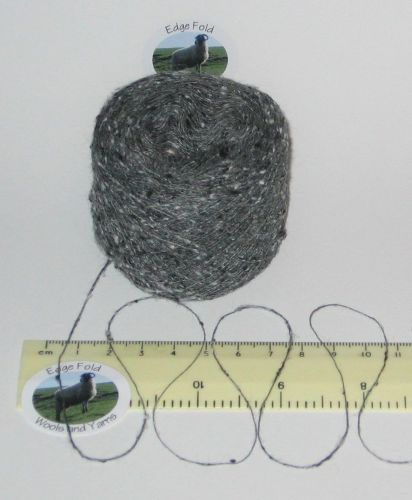 25g balls of Grey Tweed 1 ply Viscose & Silk Lace knitting wool yarn Single spun