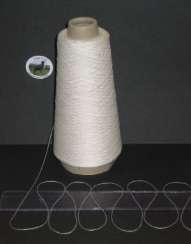 100g cone of 100% White pure Viscose thin knitting yarn 1 ply single Texere DY285