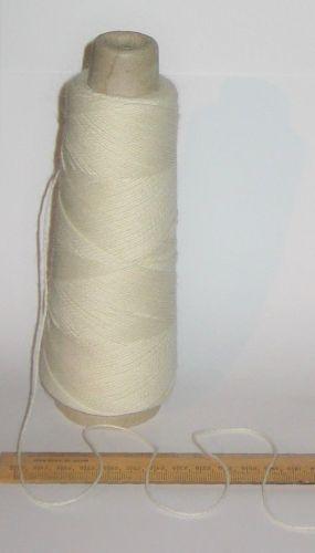 100g cones of Ecru Cream Wool knitting weaving yarn warp 2 ply Texere High Twist 'Jura'