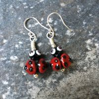 Glass Ladybird Earrings