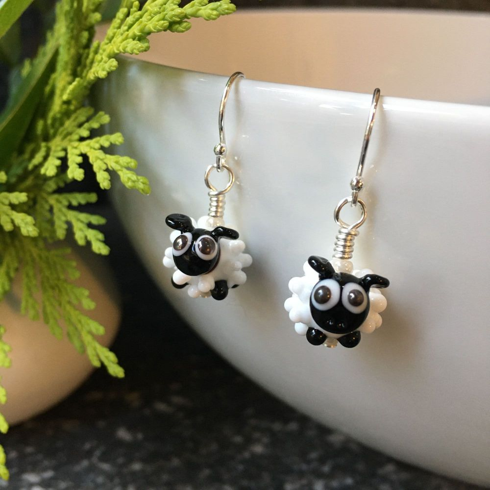 Glass Sheep Earring and Necklace Set