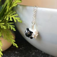 Glass Sheep Pendant Necklace