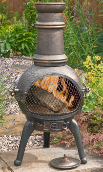 La Hacienda Sierra Medium Cast Iron Chimenea Chiminea With Grill