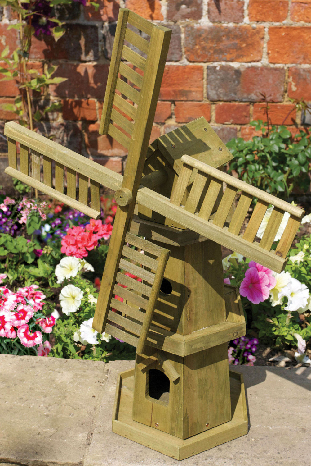 Smart Garden Giant Wooden Garden Windmill Ornament - 55cm H