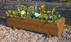Tom Chambers Rosemoor Wooden Garden Trough Planter