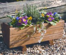 Tom Chambers Hidcote Wooden Garden Trough Planter
