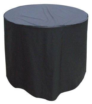 Garland Quality Polyester 4 Seat Seater Round Black Table Cover