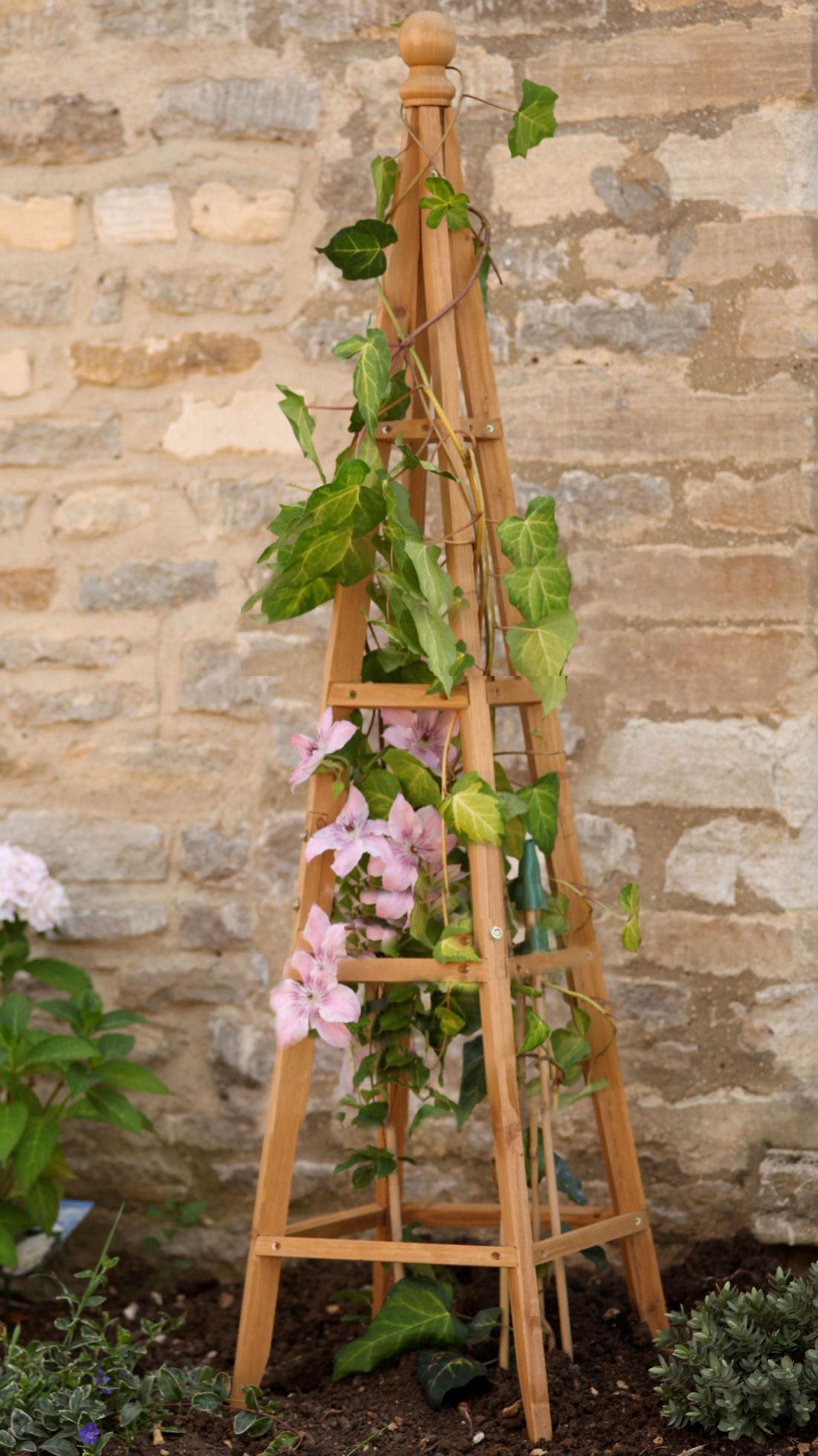 Wooden Obelisk Planters
