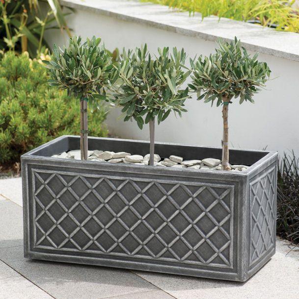 Stewart Lead Effect Decorative Planter - 70cm Trough