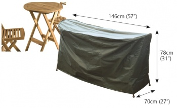 Bosmere Quality 2 Seat Small Cafe Set Cover Green C513