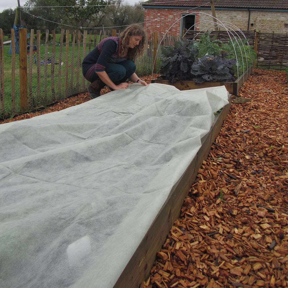 Haxnicks Extra Thick Fleece Plant Frost Protection Blanket Cover 10m x 1.8m